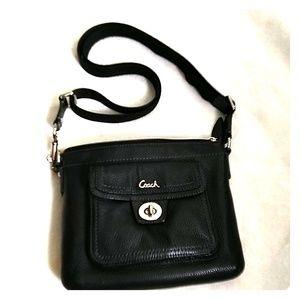 Coach pebbled leather swingpack